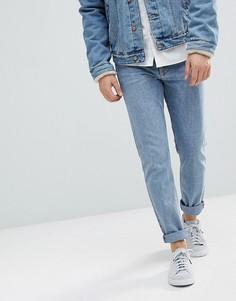 Синие зауженные джинсы Weekday Sunday - Синий