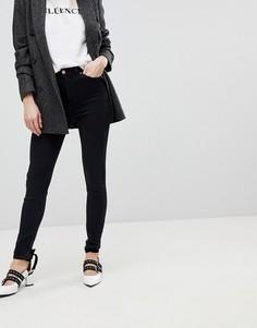 Облегающие джинсы с завышенной талией New Look - Черный