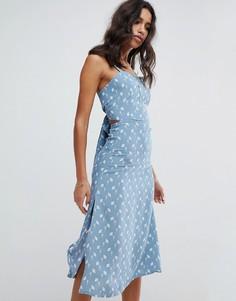 Платье миди с цветочным принтом Faithfull - Синий