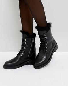 Ботинки с овечьей шерстью и шнуровкой AllSaints - Черный