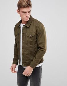 Саржевая куртка Only & Sons - Зеленый