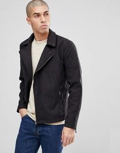 Байкерская куртка из искусственной замши Only & Sons - Черный