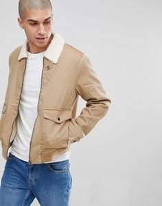 Куртка с подкладкой из искусственного меха Only & Sons - Рыжий