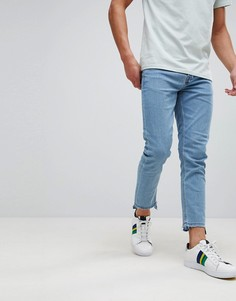 Эластичные джинсы скинни с необработанными краями Only & Sons - Синий