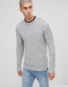 Джемпер фактурной вязки Only & Sons - Серый