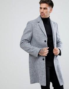 Серое строгое пальто River Island - Серый