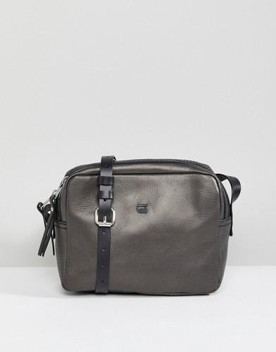 Кожаная сумка на плечо G-Star - Черный