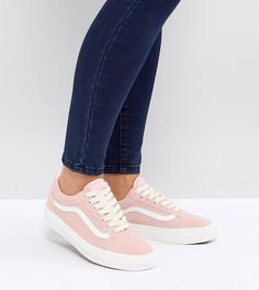 Розовые замшевые кроссовки Vans Old Skool - Розовый