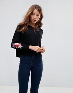 Джемпер с цветочной вышивкой Pimkie - Черный
