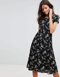 Платье миди с цветочным принтом Pussycat London - Мульти