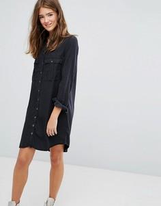 Платье-рубашка в стиле милитари Pimkie - Черный