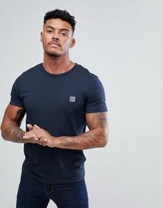 Темно-синяя футболка с логотипом BOSS Casual - Темно-синий