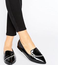 Туфли на плоской подошве для широкой стопы ASOS MARCELLA - Черный
