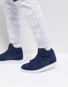 Темно-синие высокие кроссовки Nike Air Jordan 1 342132-400 - Темно-синий