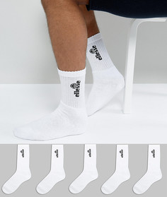5 пар спортивных носков Ellesse - Белый