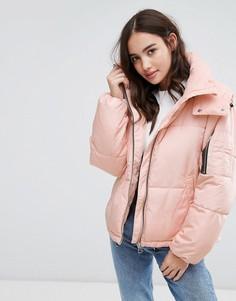 Дутая куртка с капюшоном Pimkie - Розовый