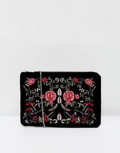 Клатч с цветочной отделкой Pimkie - Черный