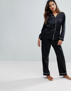 Черная атласная пижама Loungeable - Черный