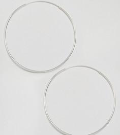 Серебряные серьги-кольца 85 мм Kingsley Ryan - Серебряный