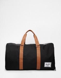 Черная сумка с контрастными коричневыми ручками Herschel Supply Co Novel - Черный