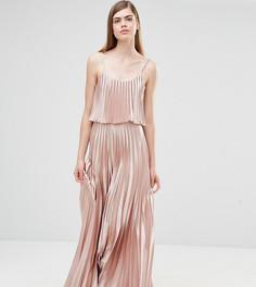 Платье 2-в-1 с плиссировкой True Violet - Розовый