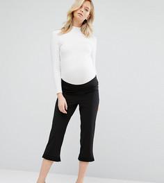 Брюки-галифе для беременных с рюшами ASOS Maternity - Черный