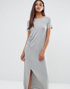 Платье миди со сборкой спереди One Day Tall - Серый