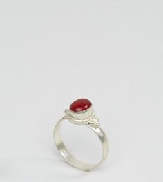 Кольцо с красным камнем Reclaimed Vintage Inspired - Серебряный