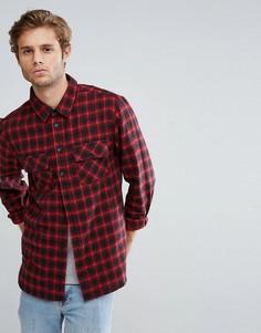 Фланелевая рубашка в клетку с двумя карманами Another Influence - Черный