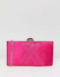 Атласная сумка-клатч Carvela Dani - Розовый