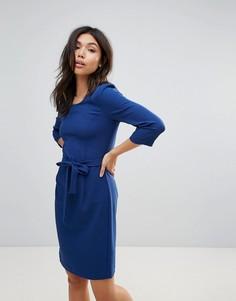 Платье с поясом Ichi - Синий