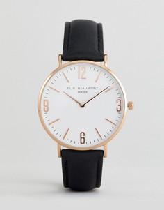 Часы с черным ремешком и прозрачным циферблатом Elie Beaumont - Черный