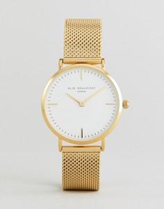 Золотистые часы с прозрачным циферблатом Elie Beaumont - Золотой