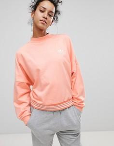 Свитшот кораллового цвета adidas Originals X Pharrell Williams Hu - Розовый