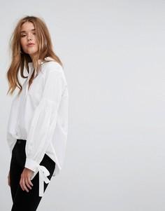 Рубашка с пышными рукавами и завязками на манжетах Pimkie - Белый