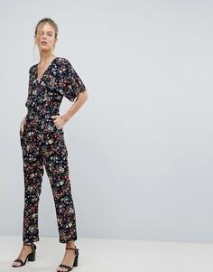 Комбинезон с цветочным принтом Uttam Boutique - Темно-синий