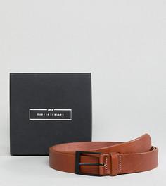 Изготовленный в Англии светло-коричневый узкий кожаный ремень ASOS PLUS - Рыжий