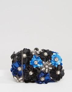 Структурированный клатч с цветочной отделкой ручной работы Park Lane - Черный