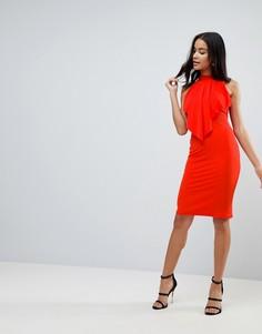 Платье миди Love - Красный