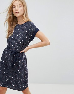 Платье в горошек Vero Moda - Темно-синий