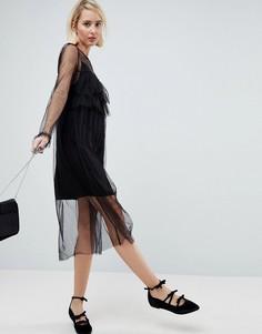 Платье с оборками Pimkie - Черный