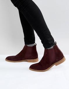 Бордовые замшевые ботинки челси Good For Nothing - Красный