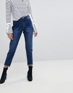 Джинсы в винтажном стиле с завышенной талией Missguided Riot - Синий