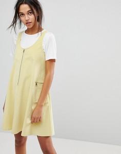 Платье на молнии Max&Co - Желтый