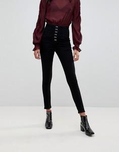 Джинсы со шнуровкой New Look - Черный