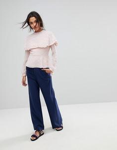 Широкие брюки на молнии Max&Co - Синий