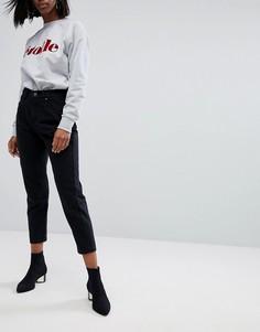 Джинсы в винтажном стиле с завышенной талией Boohoo - Черный