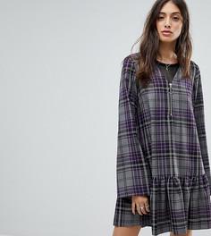 Свободное платье на молнии Reclaimed Vintage Inspired - Фиолетовый