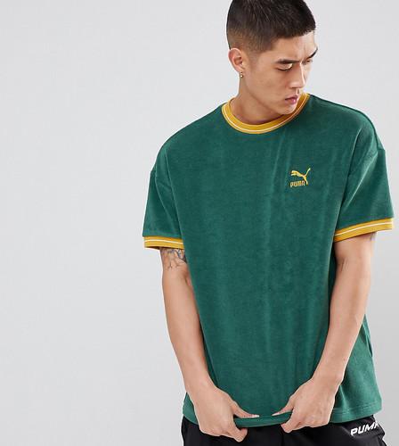 Зеленая махровая футболка Puma эксклюзивно для ASOS - Зеленый