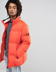 Оранжевая дутая куртка удлиненного кроя Tommy Jeans - Оранжевый Hilfiger Denim